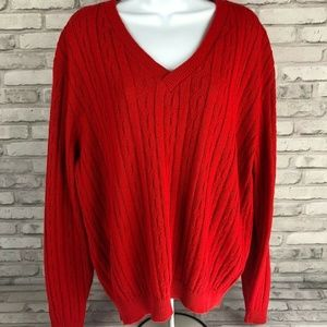 Disney Imagemaker Red Cable Knit Sweater Size M